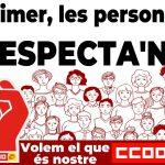 CCOO exigeix al Govern que tanqui definitivament l'increment salarial de les empleades i empleats públics per 2019