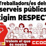 Campanya de difusió de la vaga del 12D del sector públic de la Generalitat